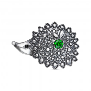 925 Sterling Silver brooches with synthetic spinel