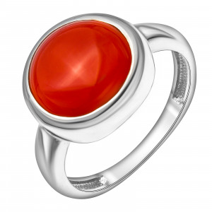 925 Sterling Silver women's rings with agate