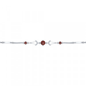 925 Sterling Silver bracelets with garnet and topaz