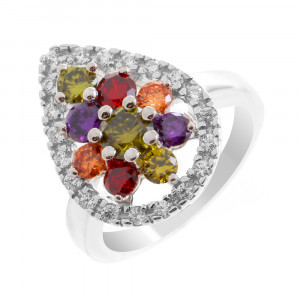 925 Sterling Silver women's rings with alpana