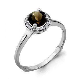 925 Sterling Silver women's rings with quartz and cubic zirconia