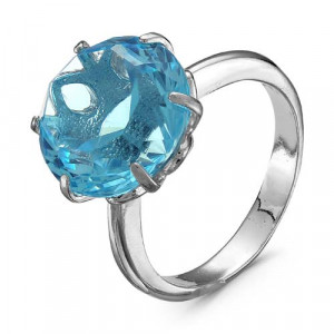 925 Sterling Silver women's rings with quartz and glass