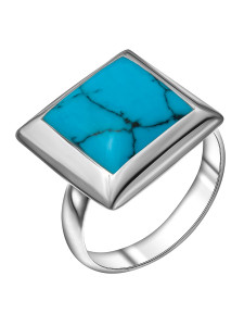 925 Sterling Silver women's ring with turquoise