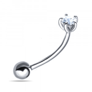925 Sterling Silver piercing with cubic zirconia swarovski and cubic zirconia