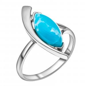 925 Sterling Silver women's rings with larimar