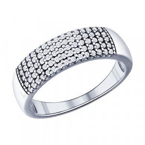 925 Sterling Silver women's rings with cubic zirconia