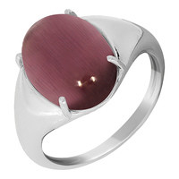 925 Sterling Silver women's rings with cat's eye