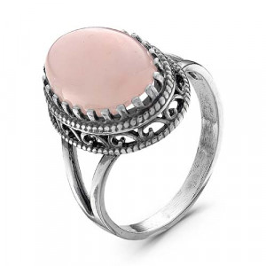 925 Sterling Silver women's rings with pink coral