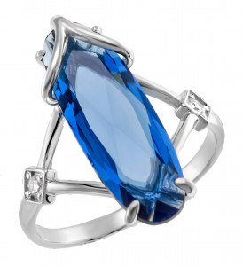 925 Sterling Silver women's rings with topaz london gt and topaz gt