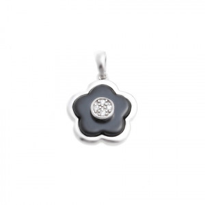 925 Sterling Silver pendants with cubic zirconia and ceramics