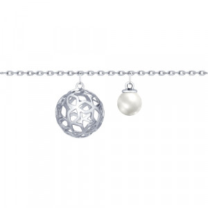 925 Sterling Silver bracelets with pearl imit. and cubic zirconia swarovski