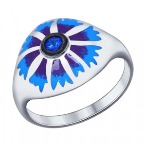 925 Sterling Silver women's rings with cubic zirconia and enamel