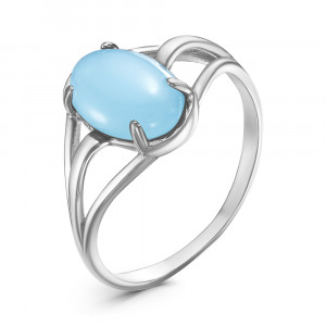 925 Sterling Silver women's rings with blue agate