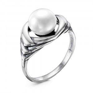 925 Sterling Silver women's rings with pearl cult.