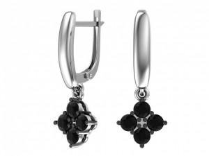 925 Sterling Silver pair earrings with cubic zirconia
