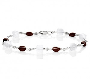 925 Sterling Silver bracelets with sitall and cubic zirconia