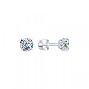925 Sterling Silver pair earrings with swarovski and cubic zirconia