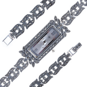 925 Sterling Silver hand watches with marcasite