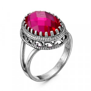 925 Sterling Silver women's rings with corundum and