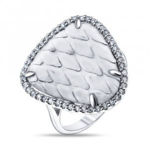 925 Sterling Silver women's rings with python skin