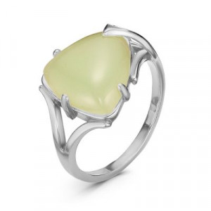 925 Sterling Silver women's rings with  and synthetic jade