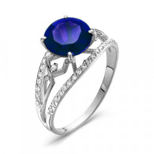 925 Sterling Silver women's rings with cubic zirconia and synthetic corundum