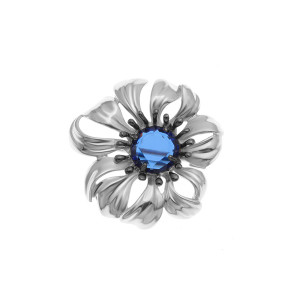 925 Sterling Silver brooches with sitall