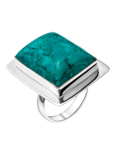 925 Sterling Silver women's ring with chrysocolla