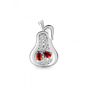 925 Sterling Silver brooches with cubic zirconia