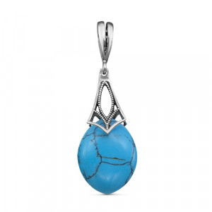 925 Sterling Silver pendants with turquoise