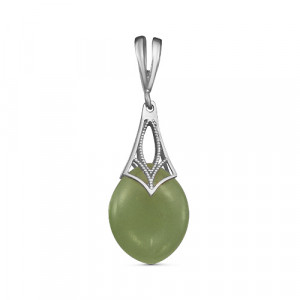 925 Sterling Silver pendants with jade