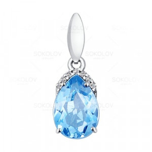 925 Sterling Silver pendants with topaz