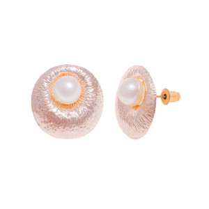 Bijuterii Alloy pair earrings with pearl imit.