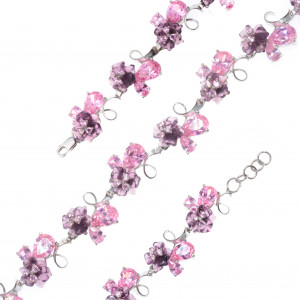 925 Sterling Silver bracelets with quartz and cubic zirconia