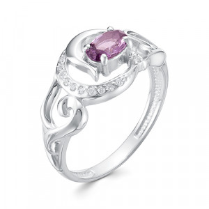 925 Sterling Silver women's rings with jewelry glass and glass
