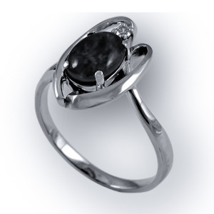 925 Sterling Silver women's rings with aventurine and agate