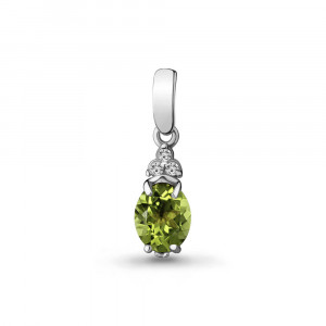 925 Sterling Silver pendants with chrysolite