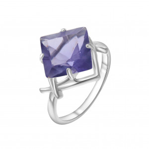 925 Sterling Silver women's rings with quartz pl. amethyst and amethyst