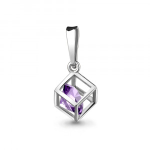 925 Sterling Silver pendants with amethyst