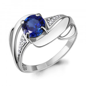 925 Sterling Silver women's rings with cubic zirconia and nano sapphire