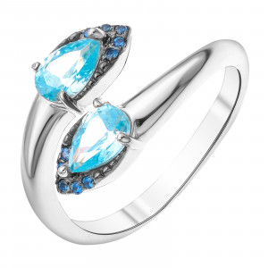 925 Sterling Silver women's rings with cubic zirconia and multicolor cubic zirconia