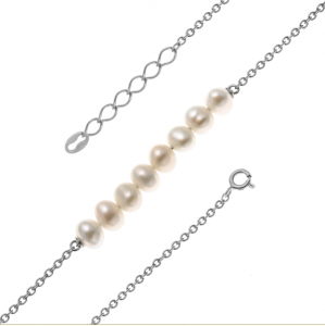 925 Sterling Silver necklaces with pearl cult.