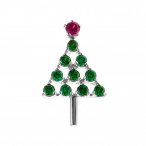 925 Sterling Silver badges with cubic zirconia and corundum