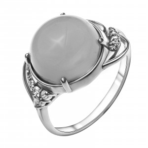 925 Sterling Silver women's rings with coral and chrysoprase