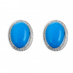 Bijuterii Alloy pair earrings with enamel