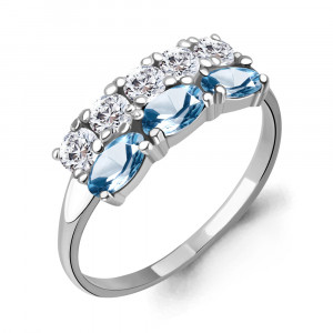 925 Sterling Silver women's rings with  and topaz