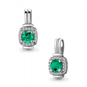 925 Sterling Silver pendants with nano emerald