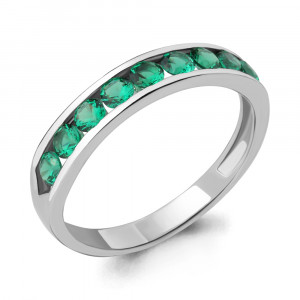925 Sterling Silver women's rings with emerald gt and nano emerald