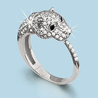 925 Sterling Silver women's rings with nano crystal and synthetic spinel