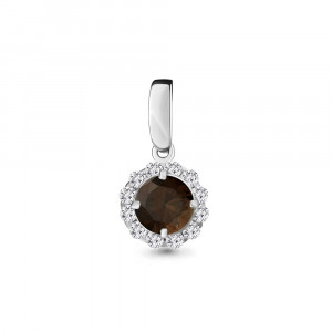 925 Sterling Silver pendants with quartz and